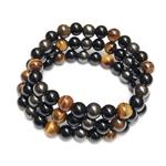 bracelet-oeil-tigre-obsidienne-hematite-perles-8mm-protection-energie-pierre-naturel-veritable