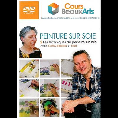 PEINTURE SUR SOIE - 2 - Les techniques de peinture sur soie avec Cathy Boidard et Fred
