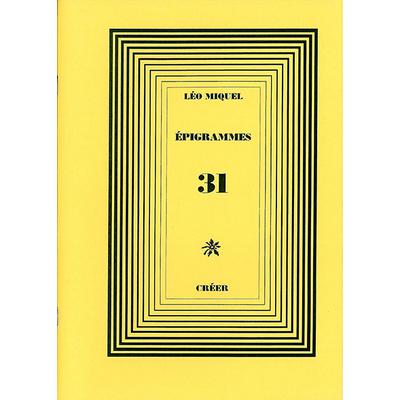 ÉPIGRAMMES 31