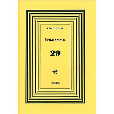 ÉPIGRAMMES 29
