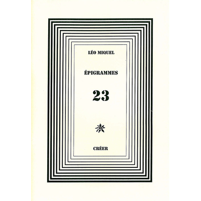 ÉPIGRAMMES 23