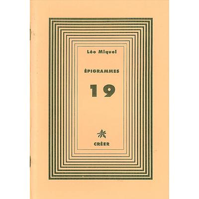 ÉPIGRAMMES 19