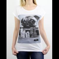 Tee-Shirt Gambling Pug Femme