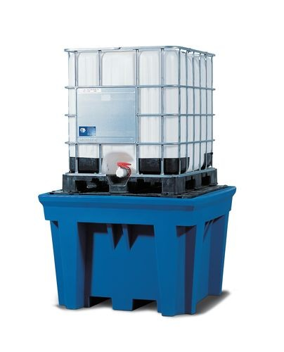 Bac de rétention en PE pour 1 cuve de 1000 litres