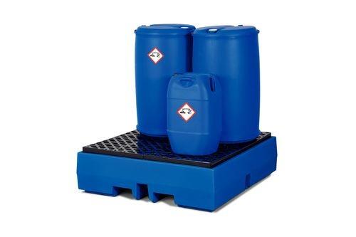 Bac de rétention en PE pour 4 fûts de 200 litres
