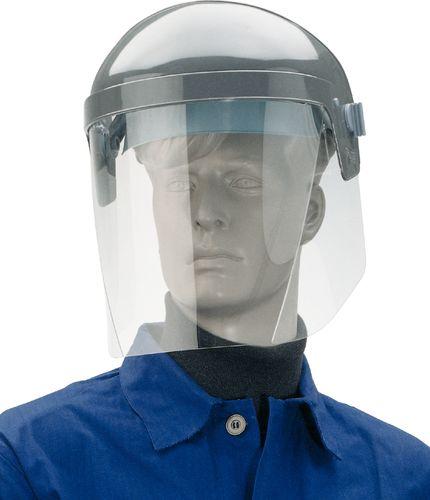 Porte-écran et casque de protection en polycarbonate