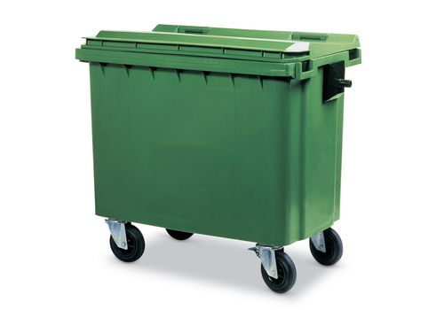 Conteneur à déchets grand volume 660 litres, vert