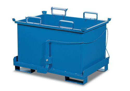Benne à fond ouvrant, en acier, 750 litres