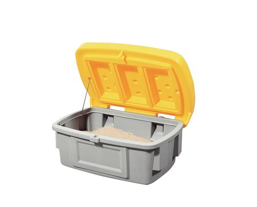 Bac à sable en PE, 100 l, sans trappe, jaune