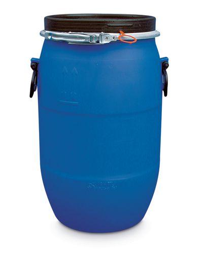 Fût à ouverture totale, en PE, 60 litres