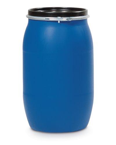 Fût plastique avec couvercle, 220 litres