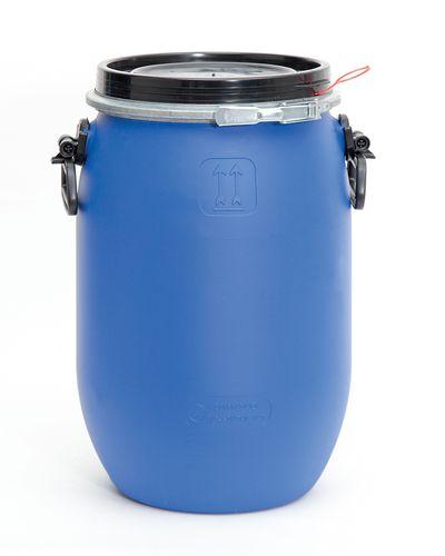 Fût à ouverture totale, en PE, 30 litres