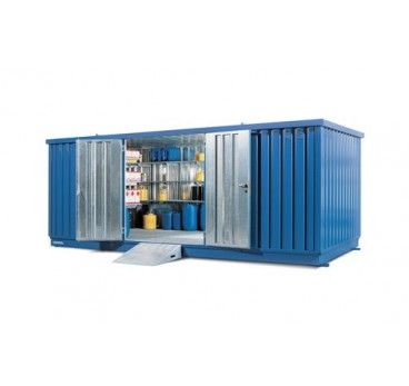 Bungalow avec bac de rétention et ventilation, 17 m²