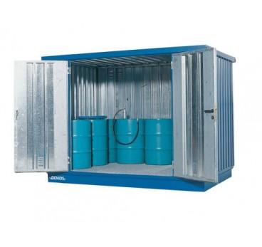 Bungalow avec bac de rétention et ventilation, 6 m²