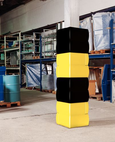 Protection pour pilier noire