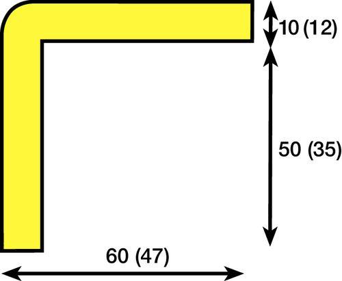 Amortisseur de choc pour angles type H L 1000 mm