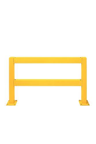 Rambarde pour barrière de protection, en acier plastifié
