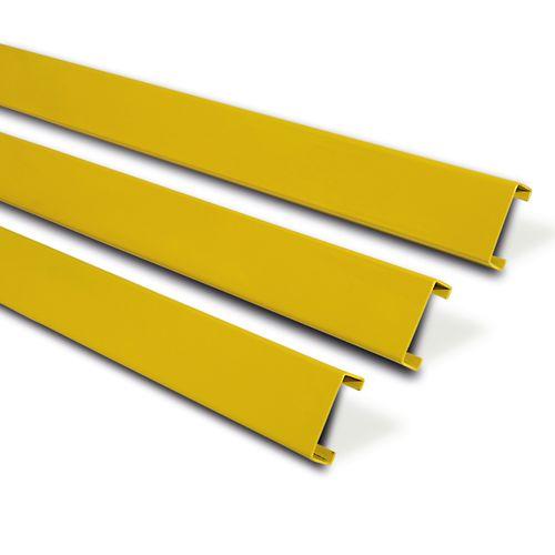 Planches de protection, acier galv plastifié jaune
