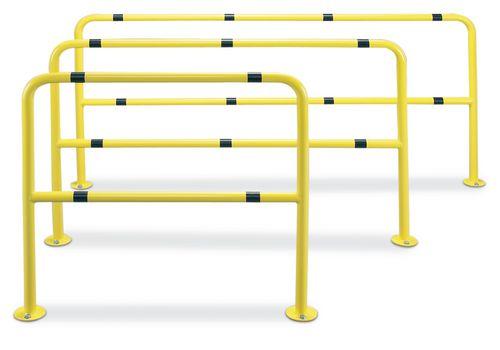 Barrière de protection jaune, acier, 1500 x 1000 mm