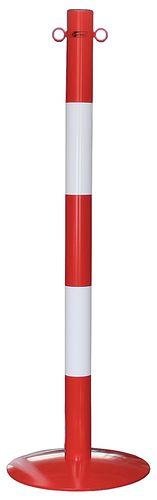 Poteau à chaine sur socle rouge