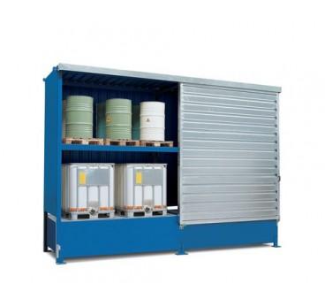 Conteneur de stockage, 8 cuves de 1000 litres