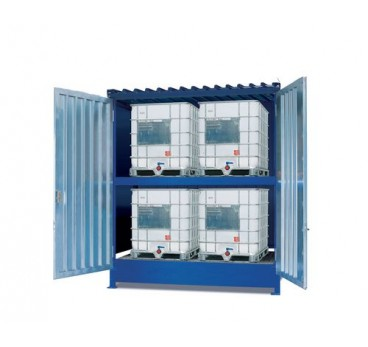 basic-store-bs-30-2k-te-portes-battantes-retention-2000-l-pour-4-cuves-de-1000-l-ou-16-futs-30