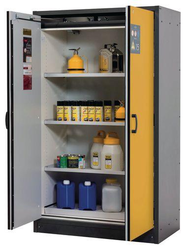 Armoire 2 portes jaunes, coupe-feu 15 min