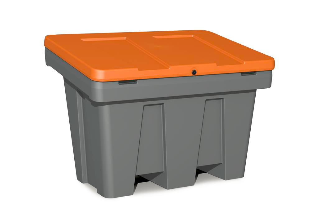 Bac à sable/sel type GB 300, en PE, 300 litres, orange