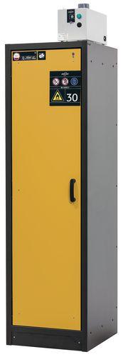 Armoire de sécurité L = 600 mm, avec 3 étagères, coupe-feu 30 min, jaune