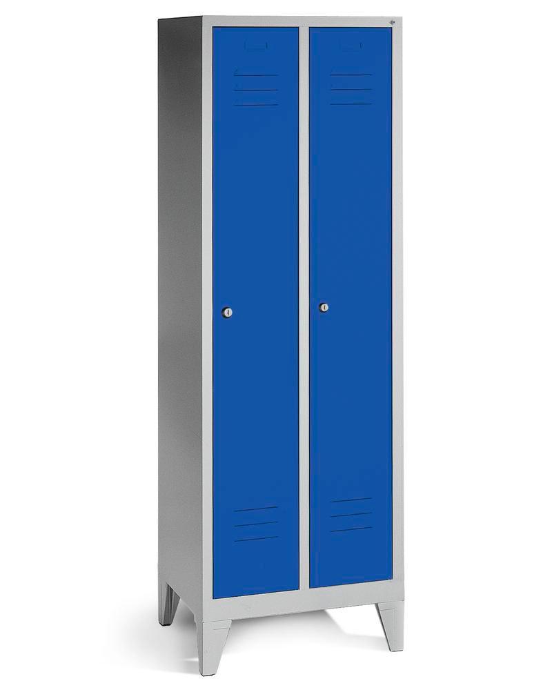 Vestiaire / armoire avec portes bleues type 610-2