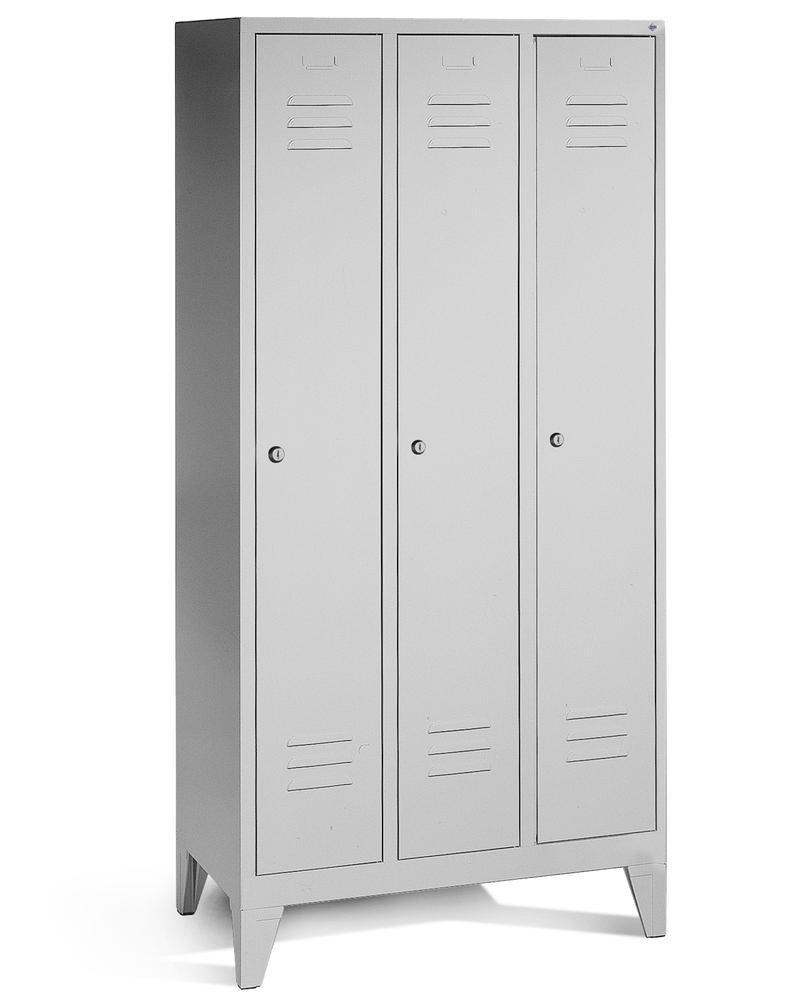 Vestiaire / armoire portes grises type 900-3