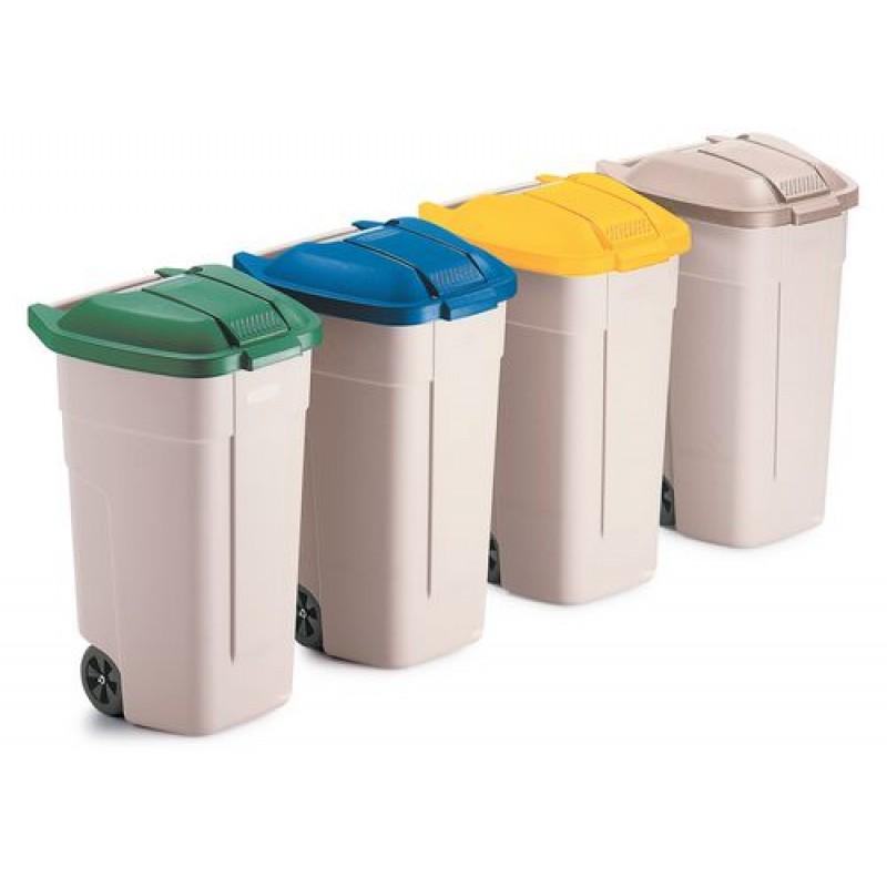 Couvercle pour conteneur à déchets, jaune