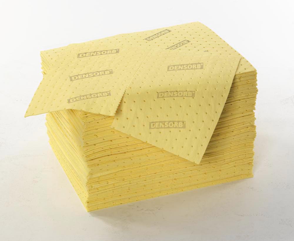 Feuilles absorbantes pour produits chimiques, 200 unités