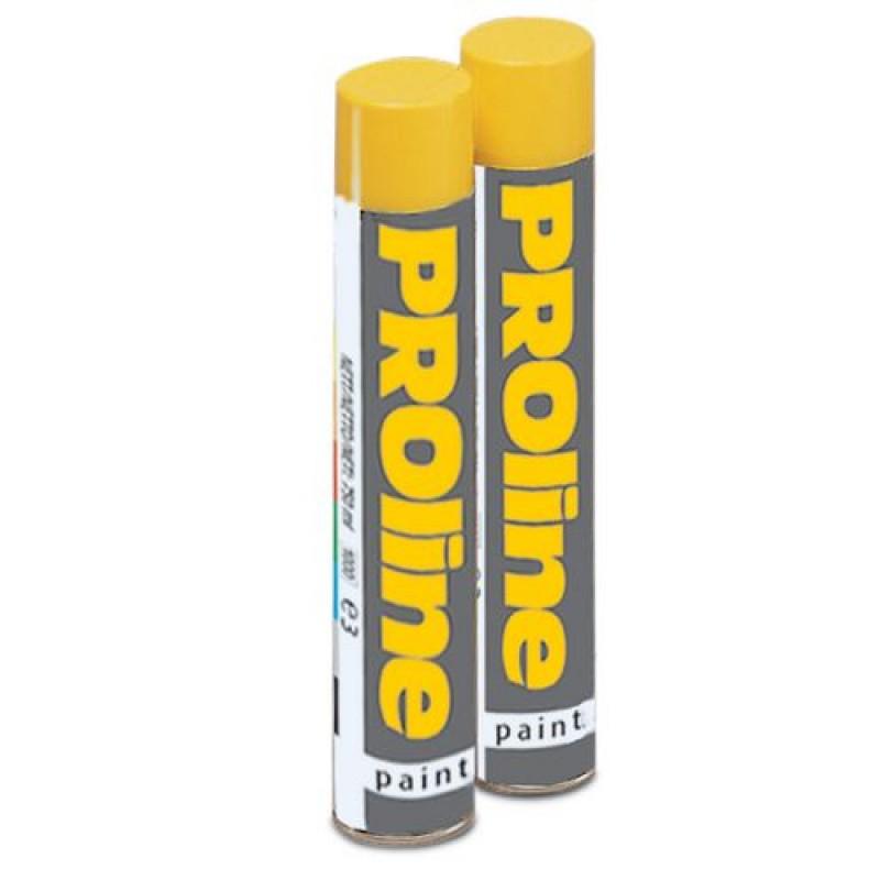 Bombe aérosol de couleur jaune