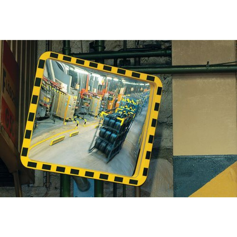 Miroir panoramique jaune / noir, 800 x 600 mm