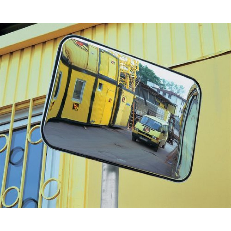 Miroir panoramique, rectangulaire, 800 x 600 mm, en plexiglas