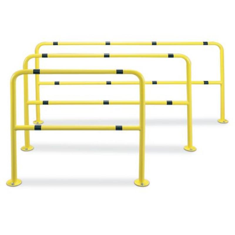Barrière de protection peinte, jaune, acier, 1000 x 1000 mm