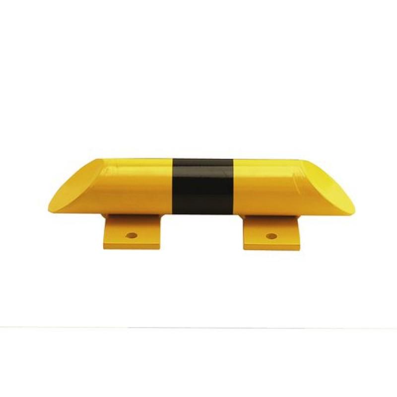 Barre de butée au sol, acier,  jaune/noire, 400 mm