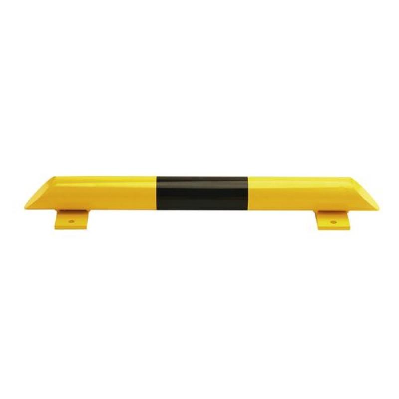 Barre de butée au sol, acier,  jaune/noire, 800 mm