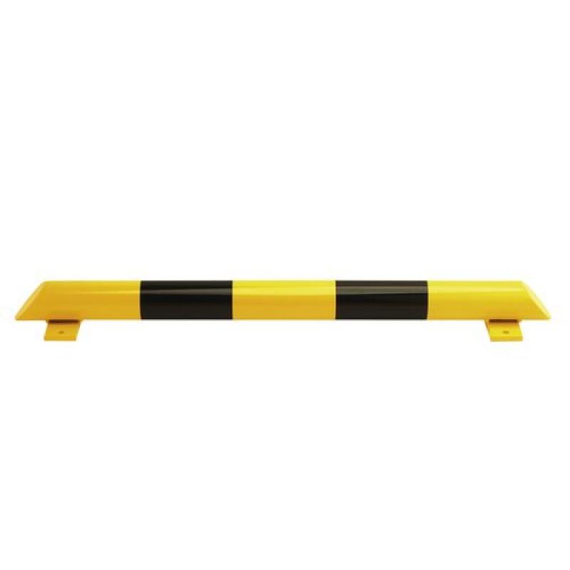 Barre de butée au sol, acier,  jaune/noire, 1200 mm