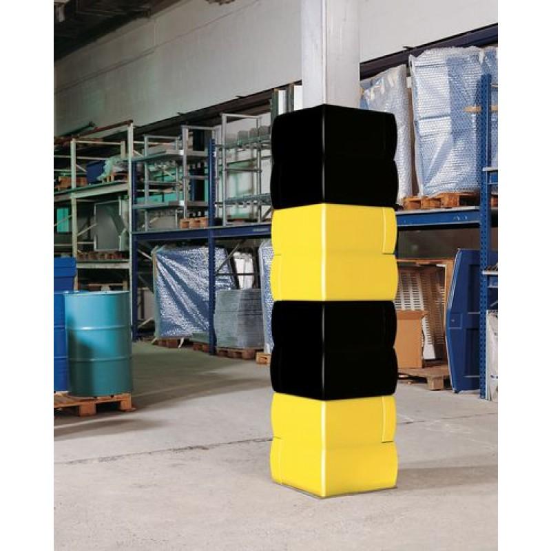 Protection pour pilier jaune, 400 x 400 x 500 mm