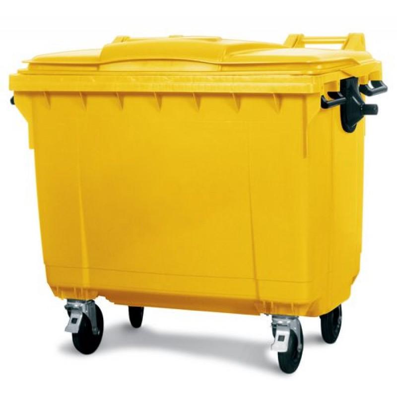 Conteneur à déchets grand volume 660 litres, jaune
