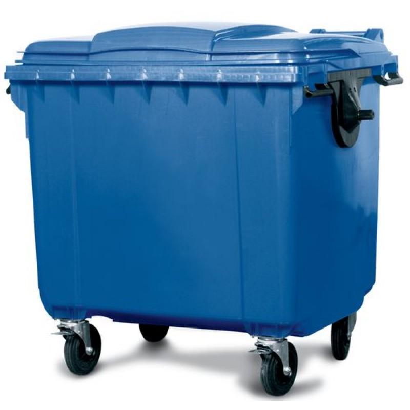 Conteneur à déchets grand volume 660 litres, bleu