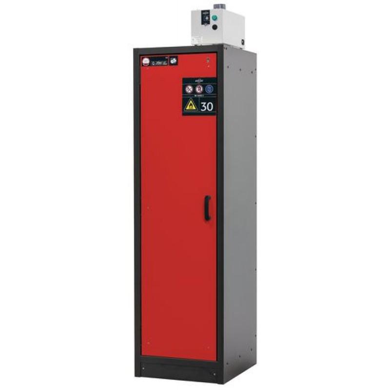 Armoire de sécurité L = 600 mm, avec 3 étagères, coupe-feu 30 min, rouge