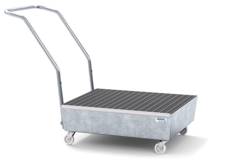 Chariot / Bac de rétention mobile, 2 fûts de 60 litres