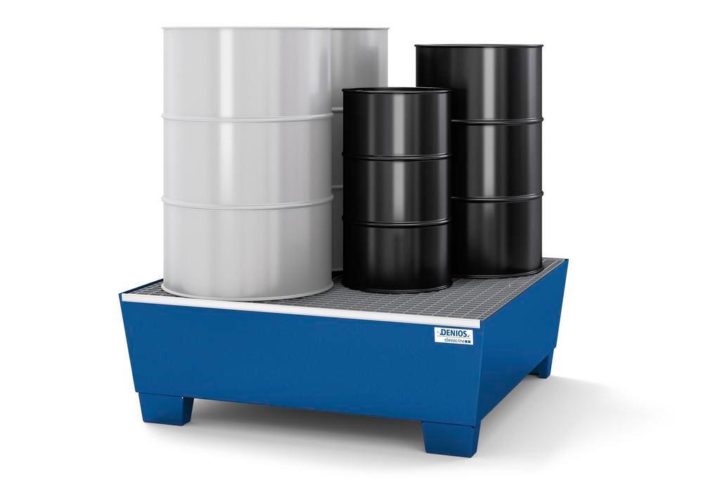 Bac de rétention pour 4 fûts de 200 litres