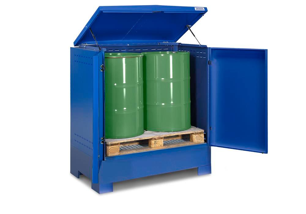 Box de sécurité pour 2 fûts de 200 litres