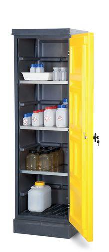 Armoire de sécurité en PE, jaune, une porte
