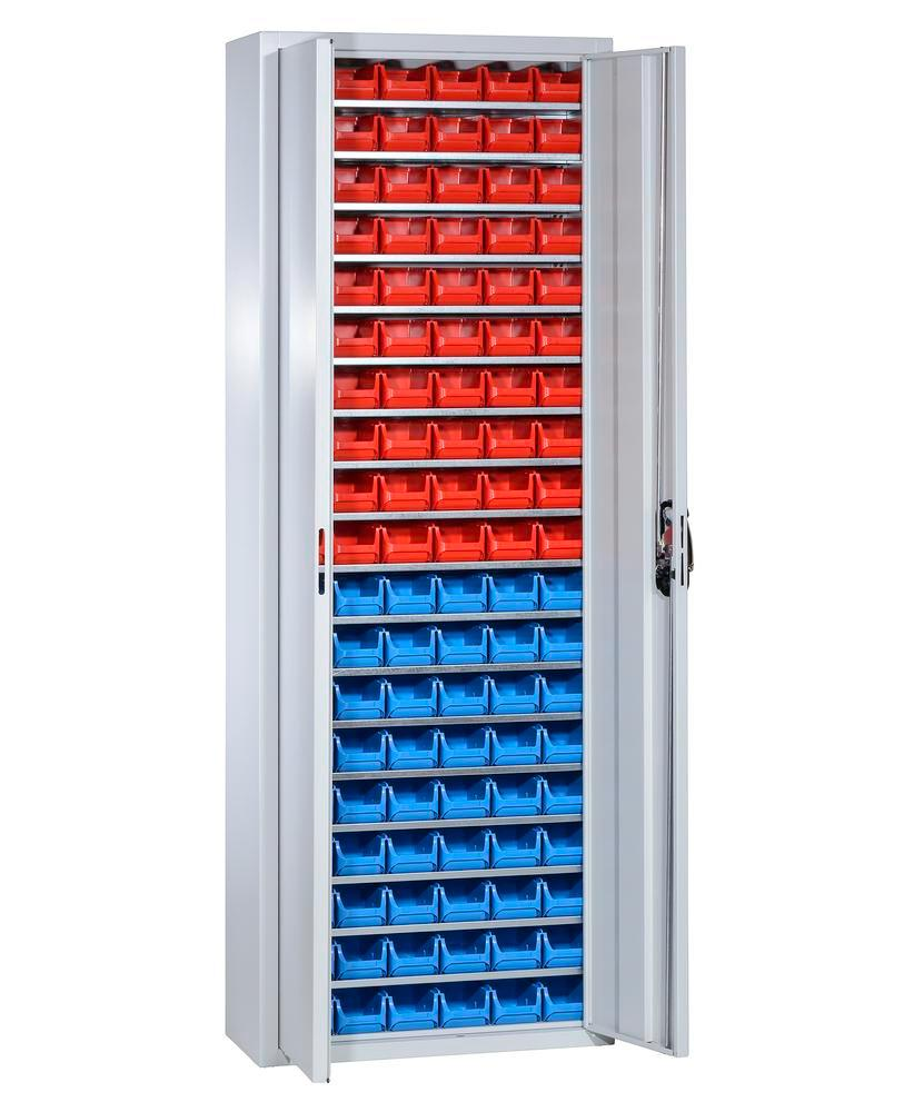 Armoire de rangement avec 114 bacs à bec