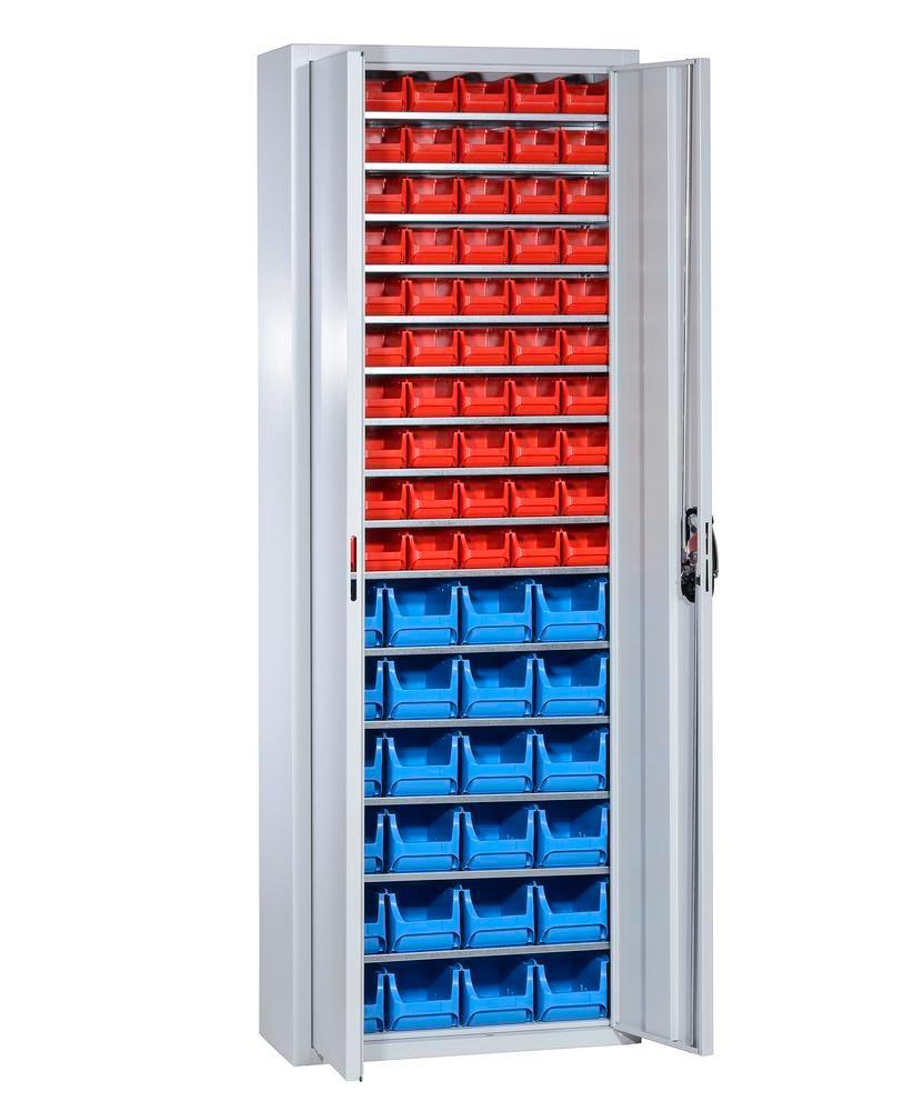 Armoire de rangement avec 84 bacs à bec